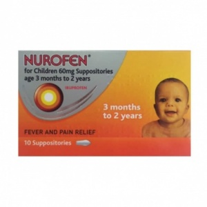 Nurofen for Children 60mg Suppositories 10 pack
